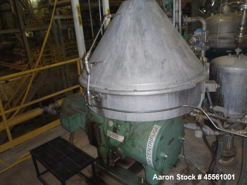 Used- Stainless Steel Westfalia Refining Desludger Disc Centrifuge, RSE-200-01-5