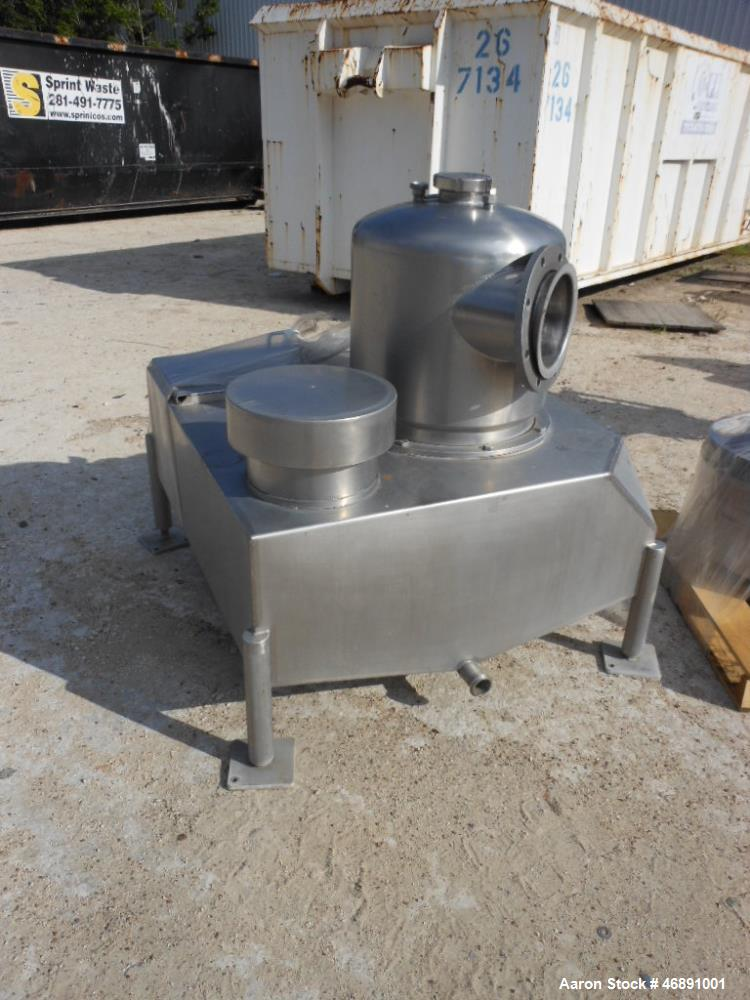 Used- Westfalia SA-100-06-177 Desludger Disc Centrifuge. 316 stainless steel construction (product contact areas), max bowl ...