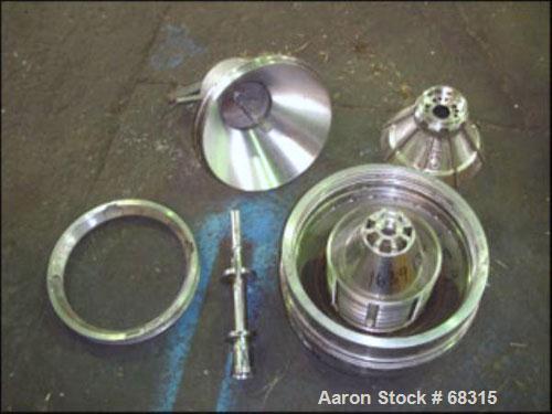 Used- Westfalia Desludger/Separator Disc Centrifuge, Model SA14-01-076316, Stainless Steel. 7560 RPM maximum bowl speed. Com...