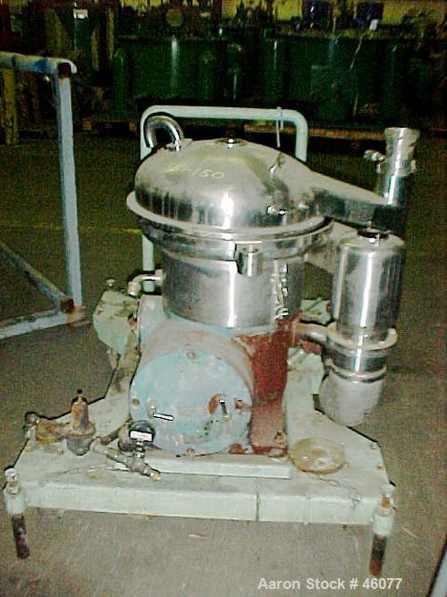 Used- Stainless Steel Westfalia Desludger Disc Centrifuge, SA-14-03-076