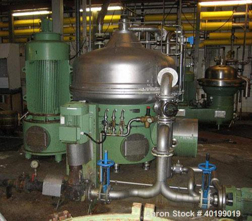 Used-Westfalia SA-160-33-177 Desludger Disc Centrifuge. Stainless steel construction (product contact areas), separator desi...