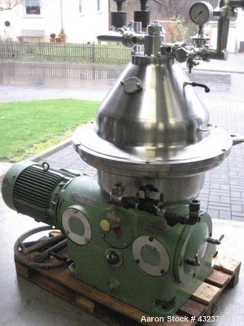 Used- Stainless Steel Westfalia Desludger Disc Centrifuge, SA-35-06-076