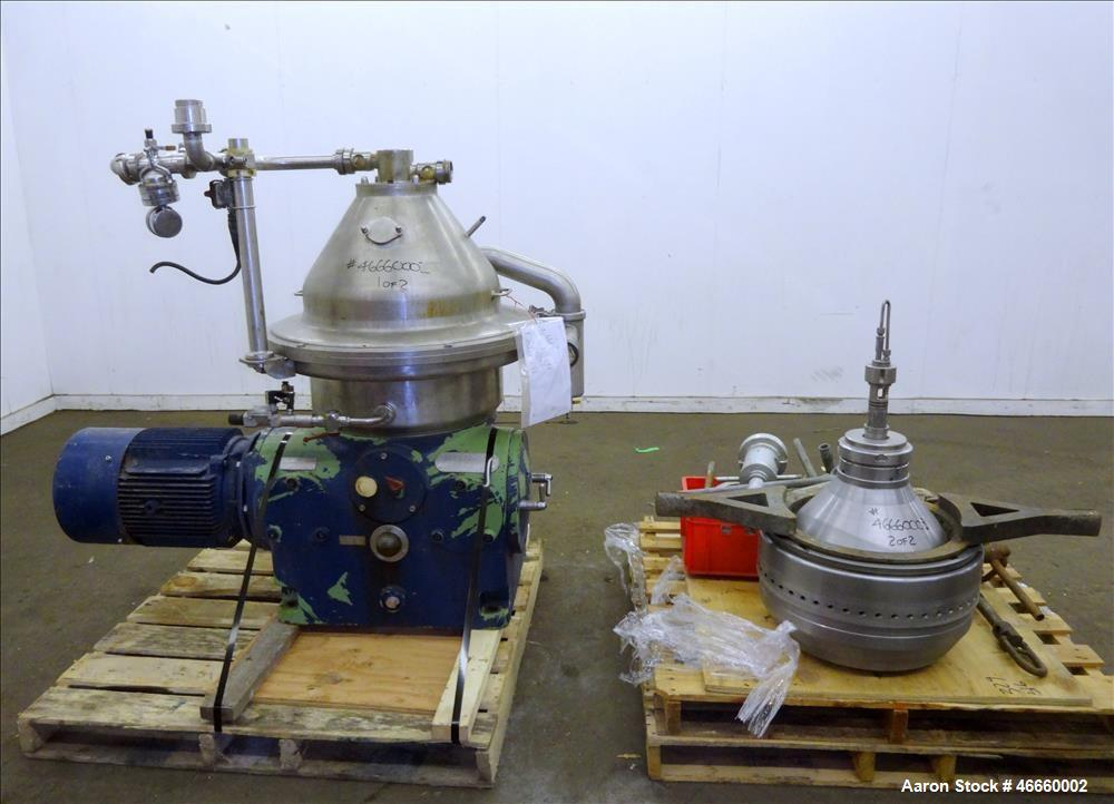 Used- Westfalia SA-35-33-576 Desludger Disc Centrifuge.