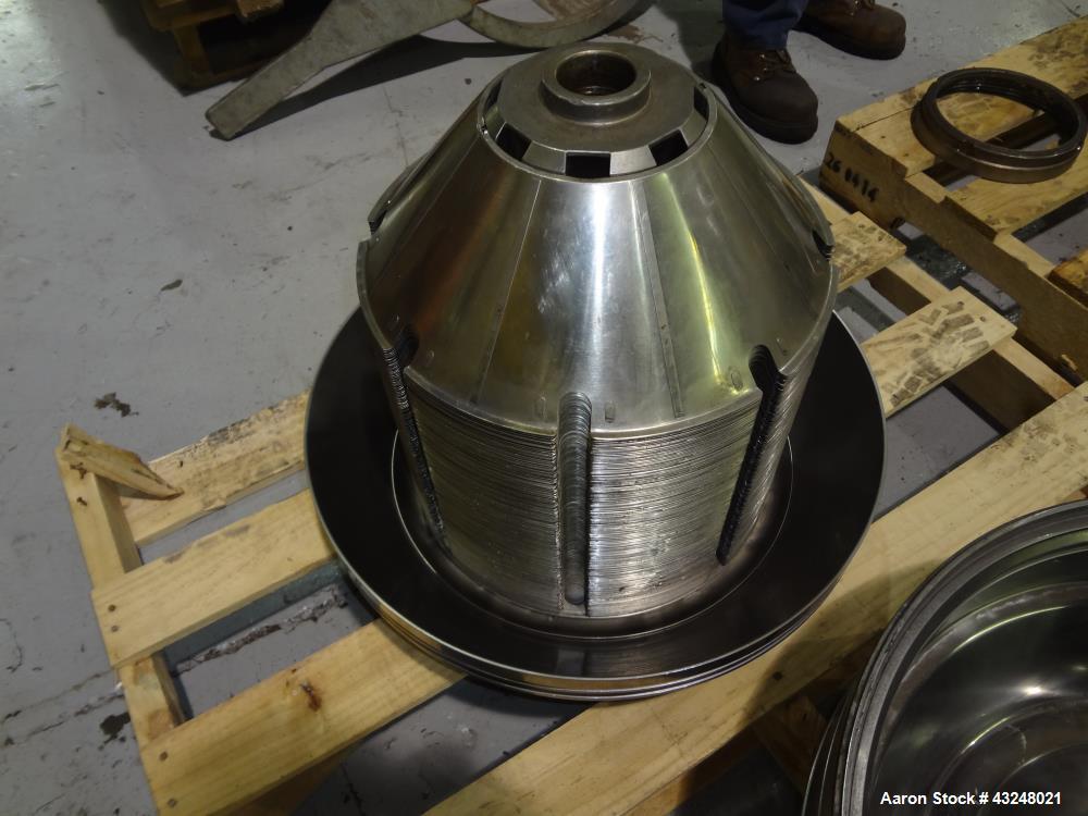 Used- Stainless Steel Westfalia Desludger Disc Centrifuge, SA-40-06-076