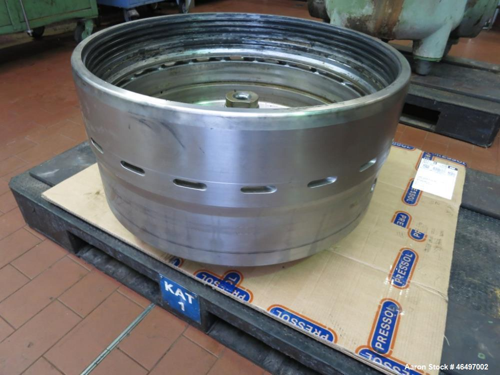 Used- Westfalia SA-45-03-076 Disc Centrifuge. 316 Stainless steel construction (product contact areas). Maximum bowl speed 5...