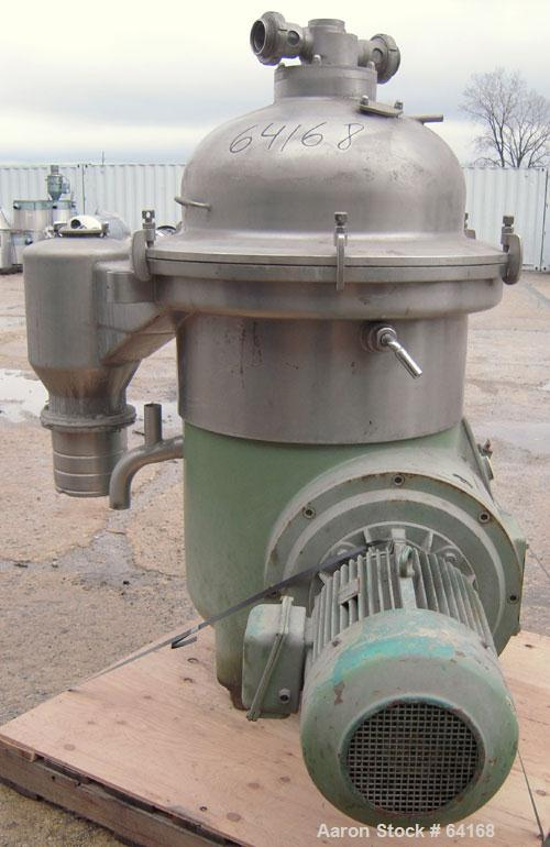 Used- Westfalia Desludger Disc Centrifuge Frame Assembly, SA-45-06-076