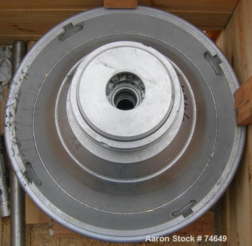 USED: Westfalia SA-45-36-177 desludger disc centrifuge bowl assembly.