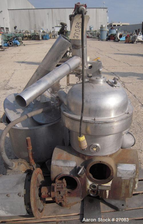 Used- Stainless Steel Westfalia Self-Thinking Separator/Desludger Centrifuge, SA