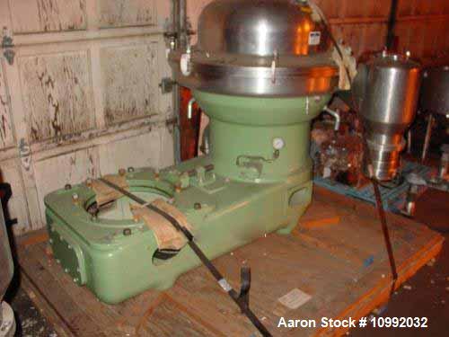 Used- Stainless Steel Westfalia Desludger Disc Centrifuge, SA-80-06-177