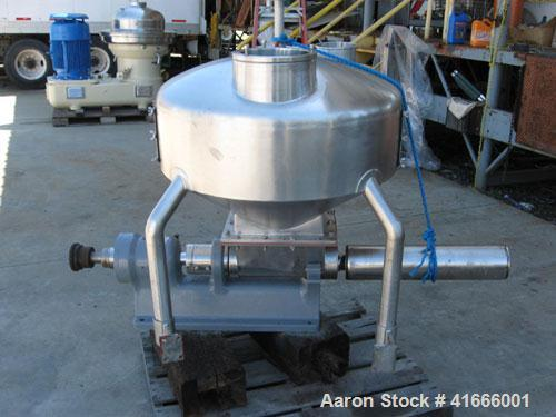 Used-Westfalia SA-82-06-177 Desludger Disc Centrifuge, 316 stainless steel construction (product contact areas). Max bowl sp...