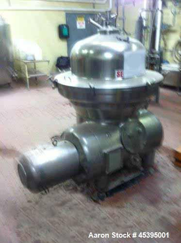 Used- Stainless Steel Westfalia Desludger Disc Centrifuge, SAMM-120006