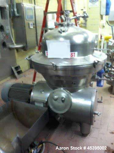 Used- Stainless Steel Westfalia Desludger Disc Centrifuge, SAMM-120006