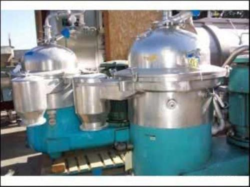 Used- Westfalia SAMR-15037 Desludger Disc Centrifuge. Stainless steel construction (product contact areas), max bowl speed 4...