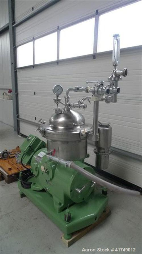 Used-Westfalia SAMR 3036 Desludger Disc Centrifuge, stainless steel construction (product contact areas), max bowl speed 750...