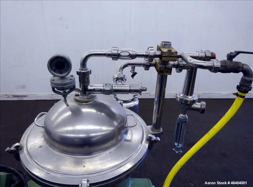 Used- Westfalia SAMR-3036 Desludger Disc Centrifuge. 316 Stainless steel (product contact areas), maximum bowl speed 7500 rp...