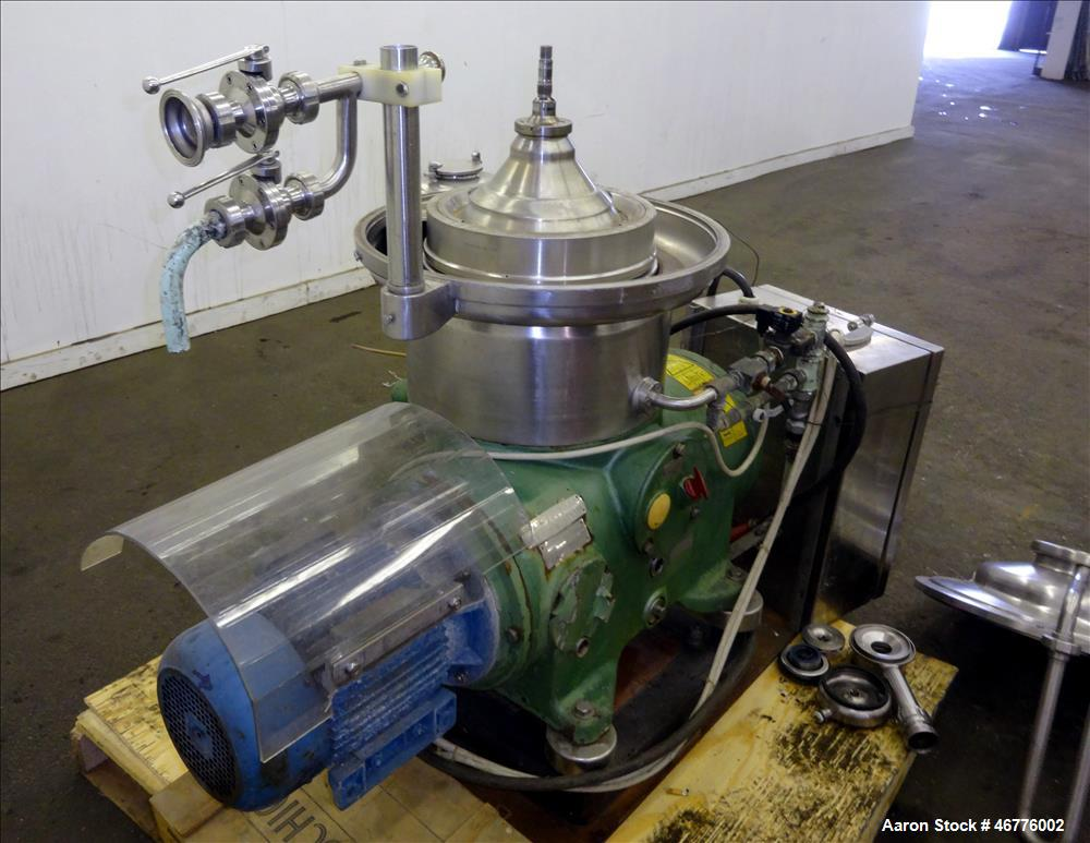 Used- Westfalia SAMP-3036 Desludger Disc Centrifuge