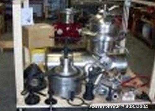 Used-Westfalia SAMR-5036 Desludger Disc Centrifuge, stainless steel construction (product contact areas), centripetal pummp ...