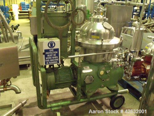 Used- Westfalia SAMR-5036 Desludger Disc Centrifuge, stainless steel construction (product contact areas), clarifier design ...