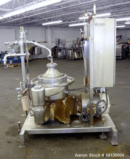 Used- Westafalia SAMR 5036 Desludger Disc Centrifuge. 329 Stainless steel construction (product contact areas), maximum bowl...