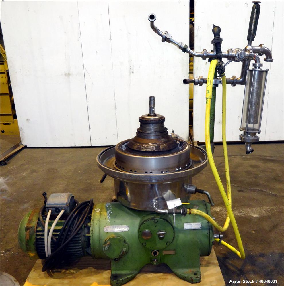 Used- Westfalia SAMR-5036  Desludger Disc Centrifuge