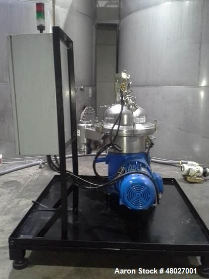 Used- Westfalia Separator, Model SAMR 5036. Self cleaning classifier, self cleaning bowl. Gas tight design of neck bearing b...