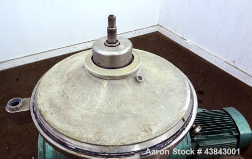 Used- Westfalia Desludging Disc Centrifuge, SAOWH-3036