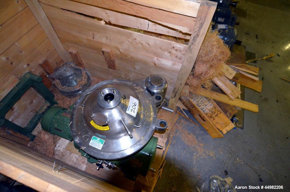 Unused- Stainless Steel Westfalia Desluder Disc Centrifuge, SB-14-06-576