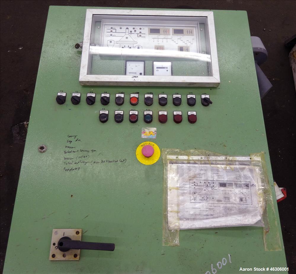Used- Westfalia SB-60-36-076 Desludger Disc Centrifuge