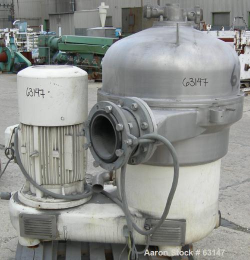 Used- Stainless Steel Westfalia Desludger Disc Centrifuge, SB-60-36-177