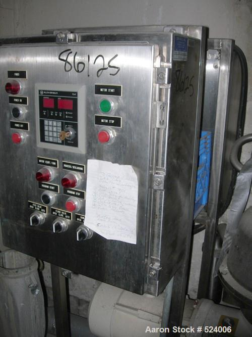 USED: Westfalia SB-7-03-076 desludger disc centrifuge. 316 stainless steel construction on product contact areas. Max bowl s...