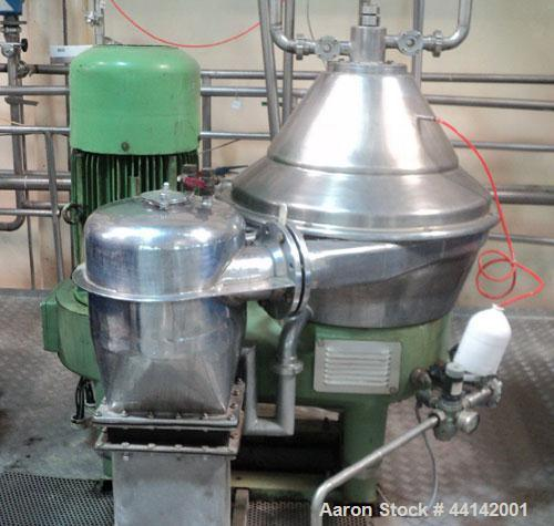 Used- Stainless Steel Westfalia Automatic Desludging Centrifuge, Model SC 35-06-177