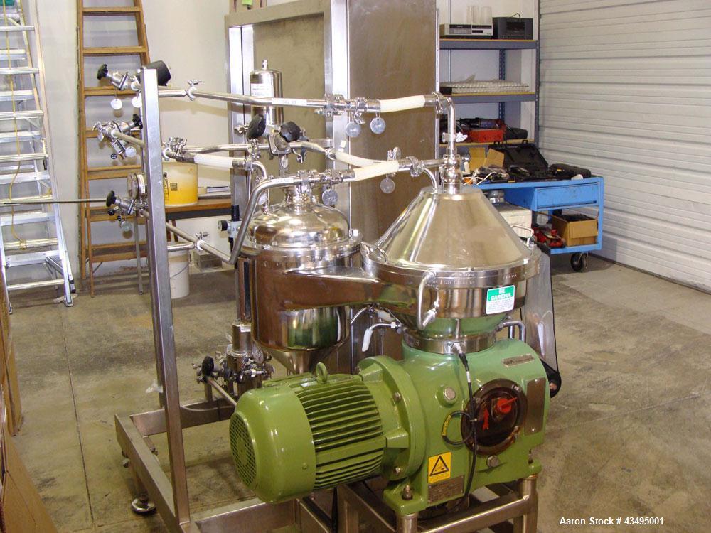 Used-Westfalia SC-6-47-076 Desludger Disc Centrifuge.  Stainless steel construction.  Clarifier design (liquid/solid separat...