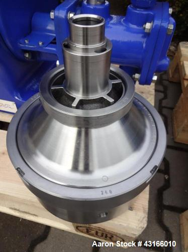 Used-Alfa Laval BDB-104 Solid Bowl Disc Centrifuge, stainless steel bowl assembly, separator bowl design (liquid/liquid/soli...