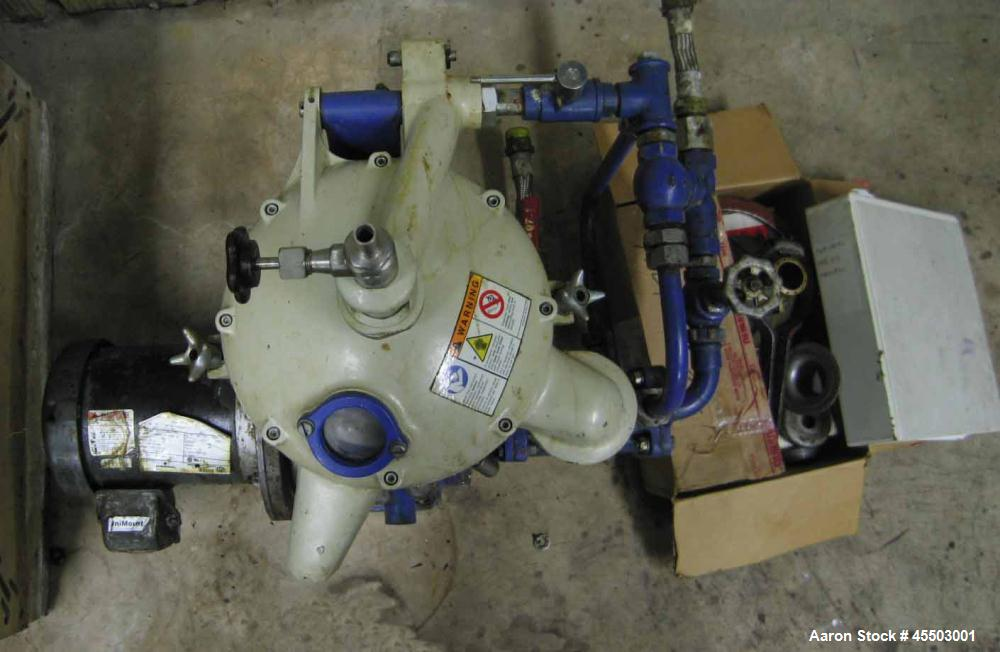 Used- Alfa Lava MAB-103 Solid Bowl Disc Centrifuge, purifier design, 1 hp TEFC drive motor, 440/3/60, Nema 4.  Both liquids ...