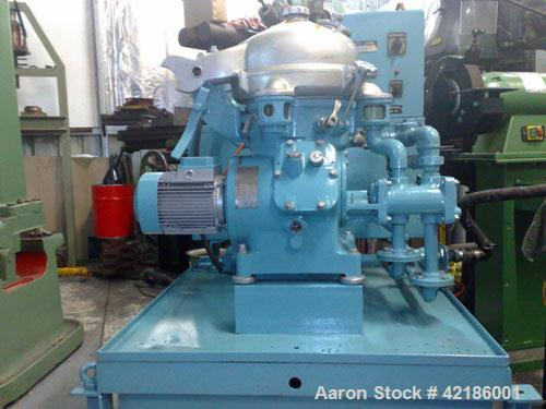 Used- Carbon Steel Alfa Laval Solid Bowl Disc Centrifuge, MAB-104