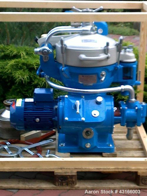 Used-Alfa Laval MAB-205 Solid Bowl Disc Centrifuge, max bowl speed 8750 rpm, separator design (liquid/liquid/solids separati...