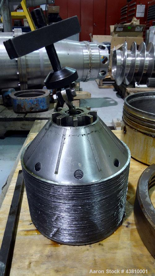Used- Stainless Steel Alfa Laval Solid Bowl Disc Centrifuge, MAB 206S-24-60