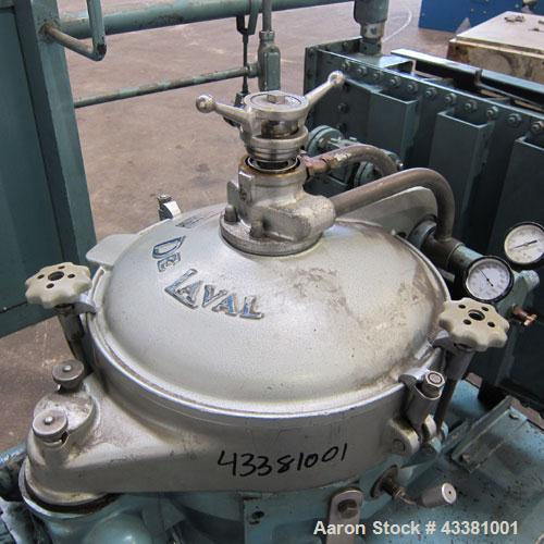 Used- Alfa Laval MAB-206S-29-60 Solid Bowl Disc Centrifuge. 316 Stainless steel product contact areas, purifier design, maxi...