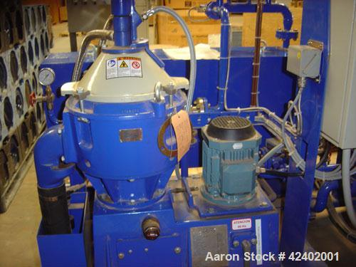 Used-Unused-Alfa Laval OCU-S304 Solid Bowl Disc Centrifuge, stainless steel/aluminum construction (product contact areas), s...