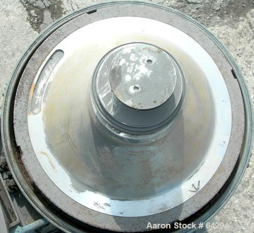 Used- Stainless Steel Alfa-Laval Solid Bowl Disc Centrifuge. BRH-214-34H-12