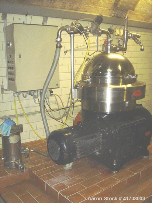 Used-IMMA Separator, stainless steel with 2,640 - 3,170 gallon (10,000 - 12,000 liter) capacity, 24 hp/18 kW motor and contr...