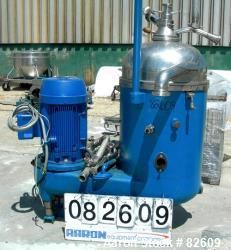 Used- Stainless Steel Westfalia  Solid Bowl Disc Centrifuge, RTA-70 - OSM-15007
