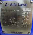 Used- Alfa Laval MAB-104B-24 Solid Bowl Disc Centrifuge. 2205 Stainless steel construction (product contact areas). maximum ...