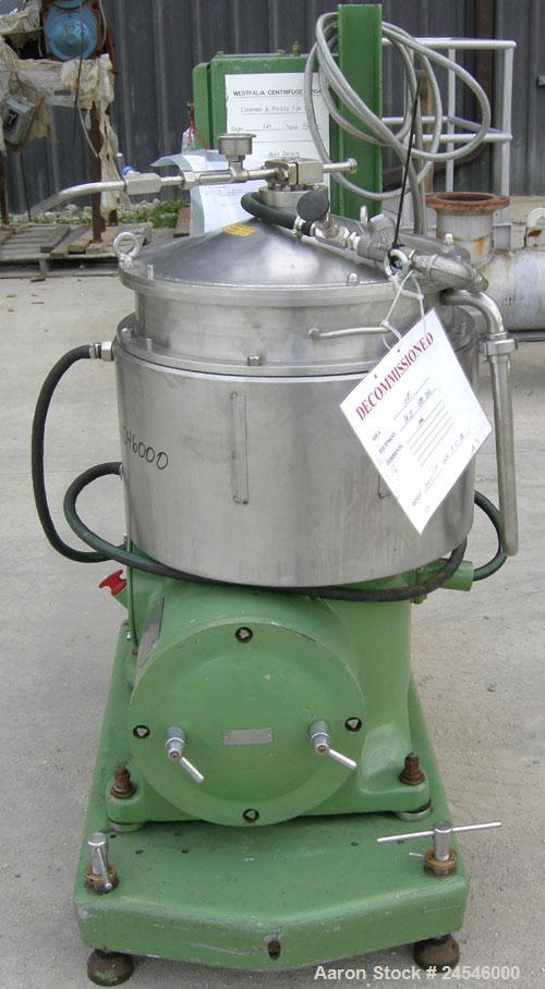 Used- Westfalia BKA-28-86-076 Solid Bowl Disc Centrifuge, 316 Stainless Steel Construction (product contact areas). Maximum ...