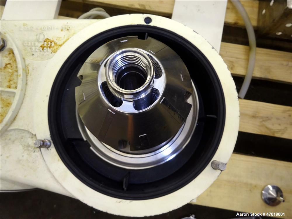 Used- Westfalia CTC-3-03-107 Solid Bowl Disc Centrifuge. 316/2205 Stainless steel construction (product contact area), Separ...