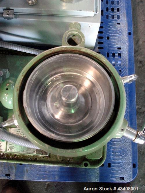 Used- Stainless Steel Westfalia Solid Bowl Chamber Centrifuge, KA-6-86-575