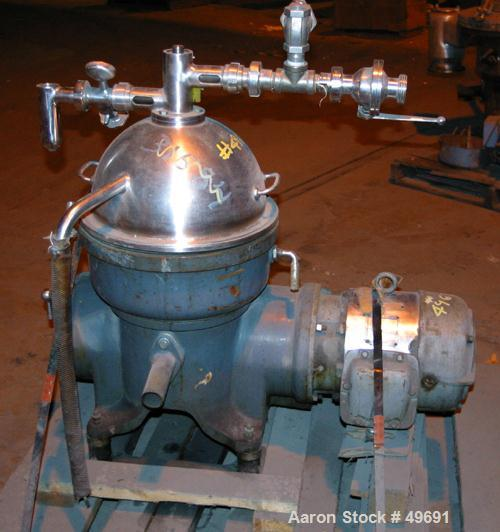 Used- Westfalia Solid Bowl Disc Centrifuge, Model KO-2006