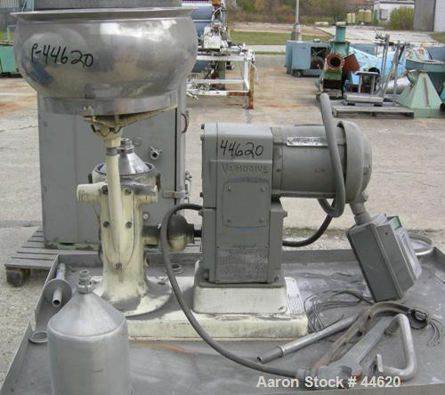 Used- Westfalia LWA-205 Gyro Centrifuge, 304 Stainless Steel Construction.