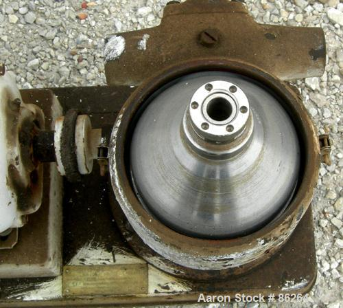 Used- Stainless Steel Westfalia Solid Bowl Disc Centrifuge, Type LWA-205