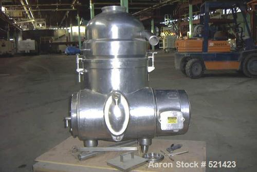 USED: Westfalia centrifuge model MN9004. Tri-purpose cold milk separator, approximately 10 hp.